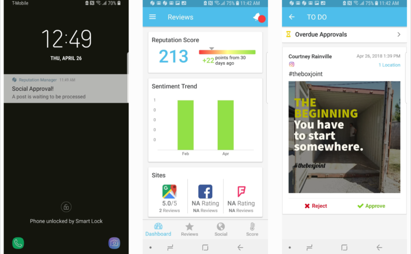 Social Push Notifications for Approval