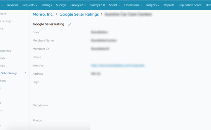 Support for Google Seller Ratings (GSR)