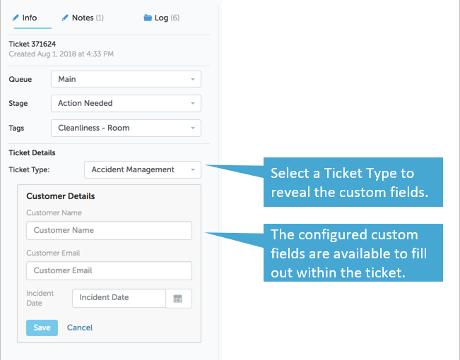 Ticket Types and Custom Fields