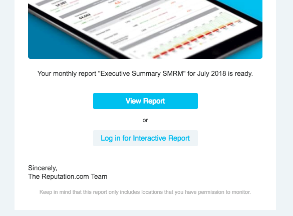 Interactive Reports for Emails