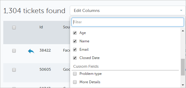 Configurable Columns on Ticket Dashboard