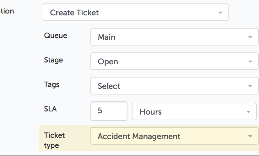 Automated Ticket Type Set at Creation