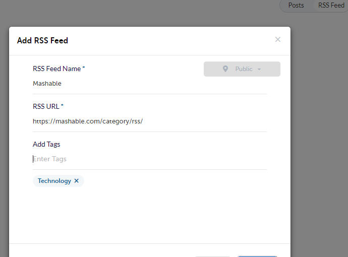 RSS Feeds in Content Library