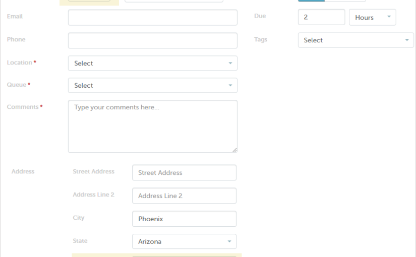 Additional Ticket Contact Fields