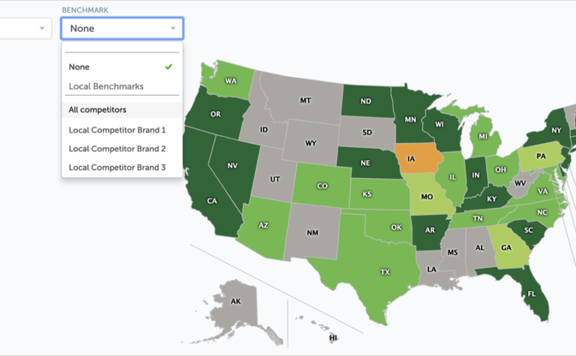 Star Rating Map with Benchmarks