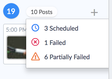Partially Failed Status for Social Posts