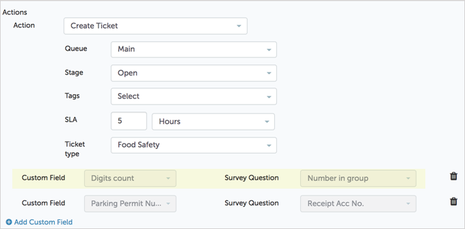 Populate Custom Fields with Survey Answers