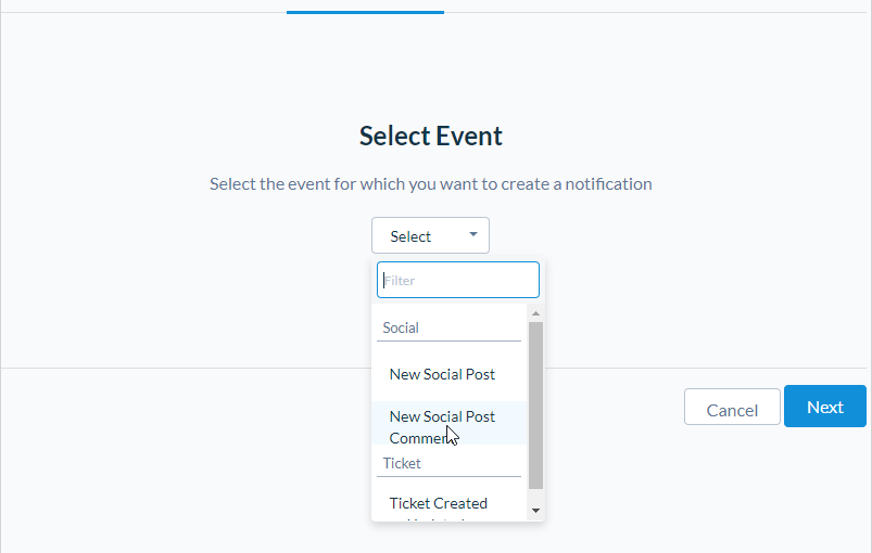 User-Level Notifications for Social