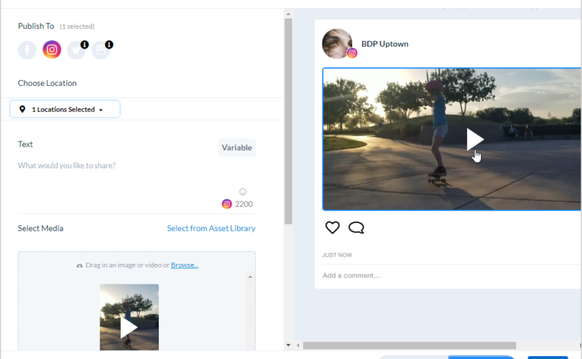 Support for Instagram Video Publishing