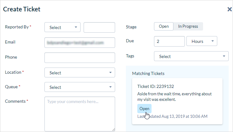 Duplicate Ticket Identification