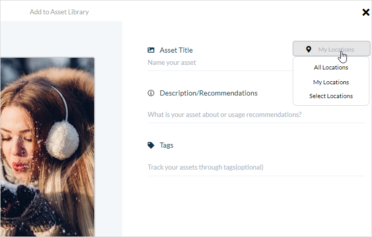 Social Asset Library Default Locations