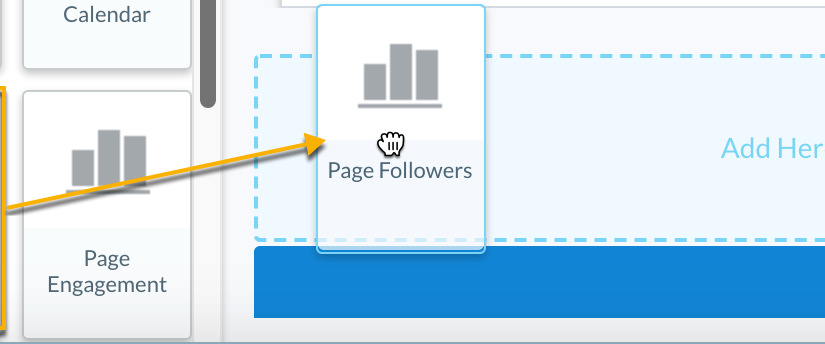 Social Page Metrics in Custom Reports
