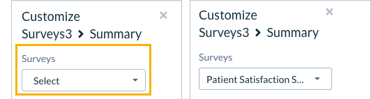 Secondary Filter Options in Survey Reports