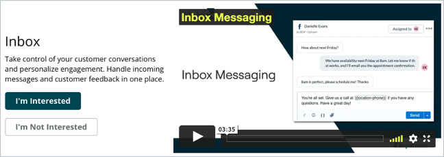 Solution Discovery: Inbox
