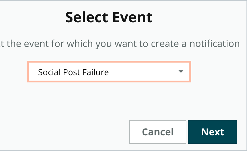 Social Post Failure Alerts in My Notifications